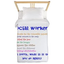 Social Work Twin Duvet