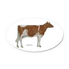 Guernsey Milk Cow Oval Car Magnet