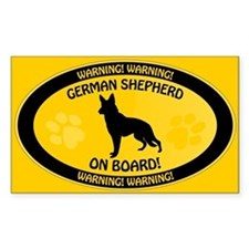 German Shepherd On Board 2 Decal