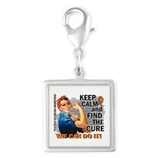 Rosie Keep Calm MS Silver Square Charm