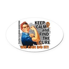 Rosie Keep Calm MS Oval Car Magnet