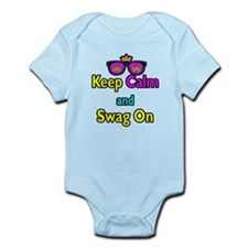 Crown Sunglasses Keep Calm And Swag On Infant Body