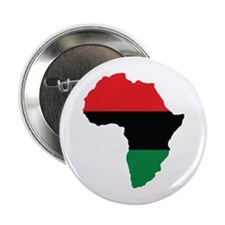 "Red, Black and Green Africa Flag 2.25"" Button"