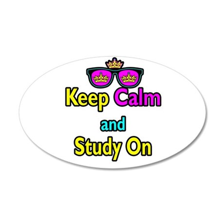 Crown Sunglasses Keep Calm And Study On 20x12 Oval
