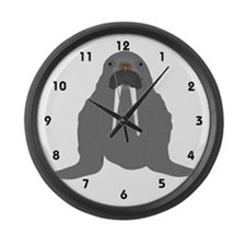Walrus Large Wall Clock