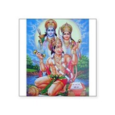 Ram Sita Hanuman Rectangle Sticker