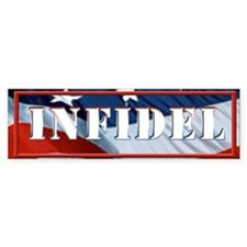 INFIDEL Flag Bumper Sticker