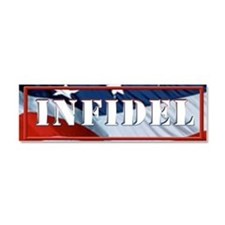 INFIDEL flag Car Magnet 10 x 3