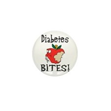 Diabetes Bites Mini Button (10 pack)