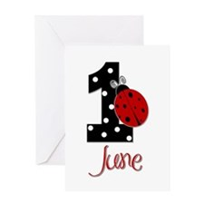 1 Ladybug JUNE - Custom Greeting Card