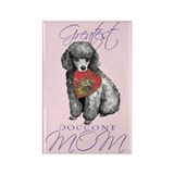 Miniature Poodle Mom Rectangle Magnet