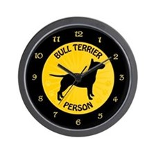 Bull Terrier Person Wall Clock