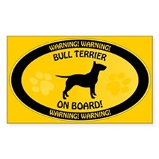 Bull Terrier On Board 2 Decal