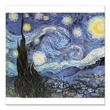 Starry Night Vincent Van Gogh Square Car Magnet 3""