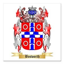 "Bosworth Square Car Magnet 3"" x 3"""