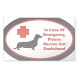 Dachshund Emergency Alert Decal Decal