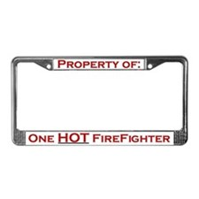 """Property of one HOT Firefighter"" License Plate"