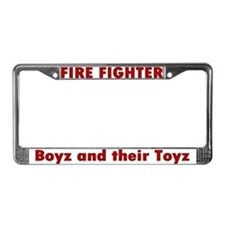 """Boyz and their Toyz"" License Plate Frame"