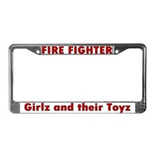 """Girlz and their Toyz"" License Plate Frame"