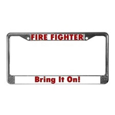 """Bring it on!"" License Plate Frame"