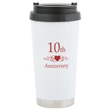 10th Wedding Anniversary Ceramic Travel Mug
