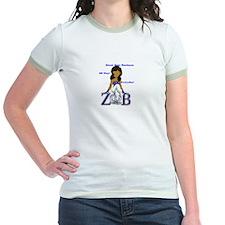 Zeta Phi Beta Cap Sleeve Shir T-Shirt