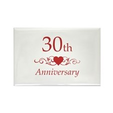 30th Wedding Anniversary Rectangle Magnet (100 pac