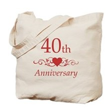 40th Wedding Anniversary Tote Bag