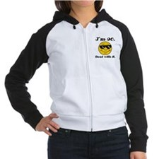 90th Birthday Deal With It Women's Raglan Hoodie