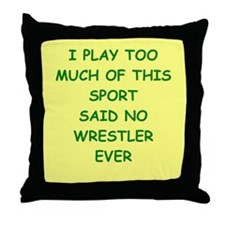 WRESTLER Throw Pillow
