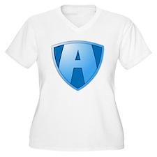 Super A Design Plus Size T-Shirt
