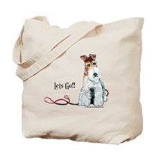 Fox Terrier Walk Tote Bag