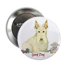 """Good Dog"" Wheaten Scottie 2.25"" Button (10 pack)"
