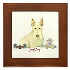 """Good Dog"" Wheaten Scottie Framed Tile"