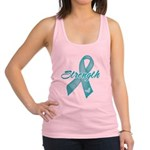 Strength - Ovarian Cancer Racerback Tank Top