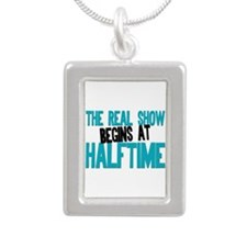 Marching Band Halftime Silver Portrait Necklace