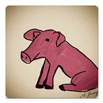 Piggy Square Car Magnet 3