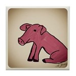 Piggy Tile Coaster