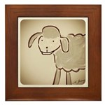 Sheep Framed Tile