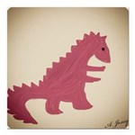 Dinosaur Square Car Magnet 3