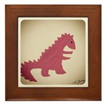 Dinosaur Framed Tile