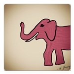 Elephant Square Car Magnet 3