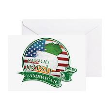 Proud Irish American Greeting Card