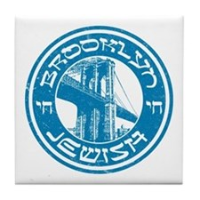 Brooklyn New York Jewish Tile Coaster