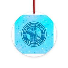 Brooklyn New York Jewish Ornament (Round)