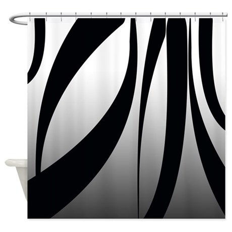 Silver And Black Fun Stripes Shower Curtain By Cheriverymery