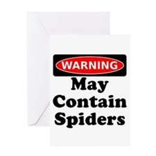 May Contain Spiders Greeting Card
