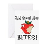 Child Sexual Abuse Bites Greeting Card