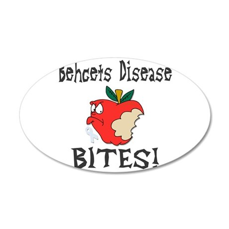 Behcets Disease Bites 35x21 Oval Wall Decal