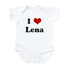 I Love Lena Infant Bodysuit